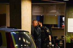 Politie in Zweden stock fotografie