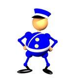 Politieagent clipart Royalty-vrije Stock Afbeeldingen