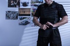 Politieagent in eenvormige politie royalty-vrije stock foto's