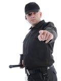 Politieagent het richten Royalty-vrije Stock Afbeeldingen