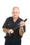 Politieagent met Knuppel Royalty-vrije Stock Foto's