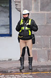 Politieagente. Royalty-vrije Stock Afbeelding