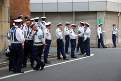 Politieagenten op Plicht Royalty-vrije Stock Foto