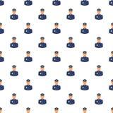 Politieagentpatroon, beeldverhaalstijl Stock Fotografie