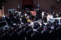 Politiebegrafenis stock foto