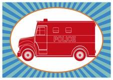 Politiebestelwagen, die pop-art trekken Stock Afbeeldingen