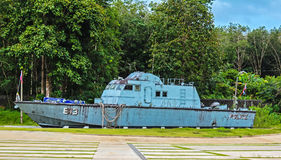 Politieboot 813 bij Klapniang/khao LAK Stock Afbeelding