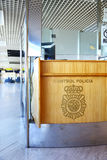 Politiecontrolepost in Spaanse luchthaven Royalty-vrije Stock Fotografie