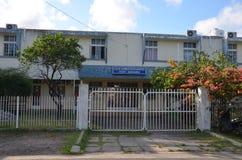 Politiehoofdkwartier in Haven Mathurin, Rodrigues Island, Mauritius Stock Fotografie