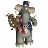 Politiek Voodoo - Republikein Royalty-vrije Stock Foto's