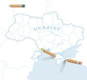 Politieke Gebeurtenissen in het Krimschiereiland Royalty-vrije Stock Foto's