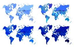 Politieke kaart van de wereld Stock Afbeeldingen
