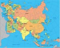 Politieke kaart van Eurasia Royalty-vrije Stock Foto