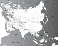 Politieke kaart van Eurasia Stock Afbeeldingen