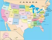 Politieke kaart van SAD Stock Afbeeldingen