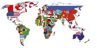 Politieke kaart van wereld royalty-vrije stock afbeeldingen
