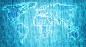 Politieke kaart van wereld Stock Afbeelding