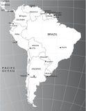 Politieke kaart van Zuid-Amerika Royalty-vrije Stock Afbeelding