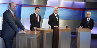 Politieke kandidaten Stock Foto