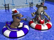 Politieke Partij - de Boten van de Bumper Stock Fotografie
