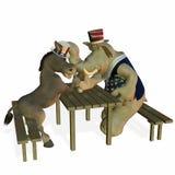 Politieke Partij - Sportieve Gebeurtenis 1 Royalty-vrije Stock Foto's
