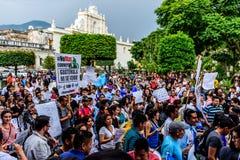 Politieke protesten, Antigua, Guatemala royalty-vrije stock afbeelding