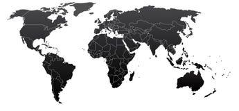 Politieke wereldkaart Stock Afbeeldingen