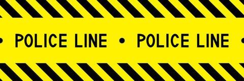 Politielijn De band van de waarschuwing royalty-vrije illustratie