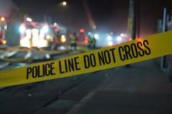 Politielijn: Kruis niet Stock Foto's