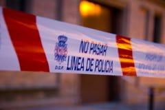 Politielijn in Sevilla Stock Fotografie