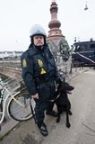 Politieman in Kopenhagen stock foto