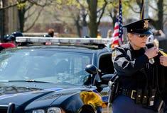 Politieman op de baan Royalty-vrije Stock Afbeelding