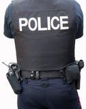 Politieman op wit wordt geïsoleerd dat Stock Fotografie