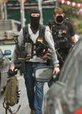 Politiemannen DÃ ¼ sseldorf Duitsland Royalty-vrije Stock Afbeeldingen