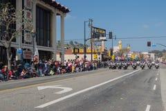 Politiemannen die op motorfietsen presteren bij Royalty-vrije Stock Fotografie
