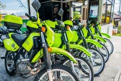 Politiemotorfietsen in Manizales, Colombia Stock Foto