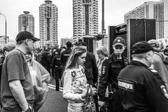 Politieonderzoek stock afbeelding