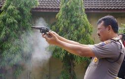 Politiepraktijk het schieten Stock Foto's