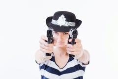 Politievrouw stock foto