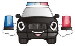 Politiewagen met sirenes Stock Foto
