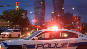 Politiewagen Mississauga stock videobeelden
