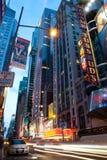 Politiewagen op Times Square New York bij nacht Royalty-vrije Stock Foto's