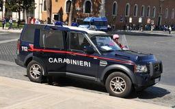 Politiewagen in Rome, Italië stock afbeelding