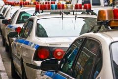 Politiewagens in Manhattan Stock Foto's