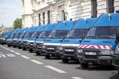 Politiewagens in Parijs Royalty-vrije Stock Foto