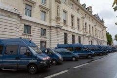 Politiewagens in Parijs, Frankrijk stock afbeeldingen