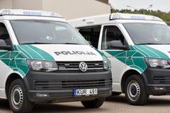 Politiewagens in Vilnius royalty-vrije stock fotografie