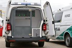 Politiewagens in Vilnius royalty-vrije stock foto's