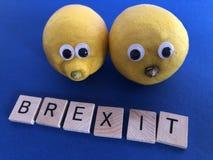 Politik: Brexit und Zitronen, Bitterkeit und Enttäuschung symbolisierend stockfoto