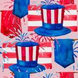 Politik der USA und Präsidenten ` Tag-, Washington-` s des Geburtstages und des Unabhängigkeitstags - dargestellt in einem Muster lizenzfreie abbildung